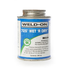 Weld-On 725 Wet 'r Dry